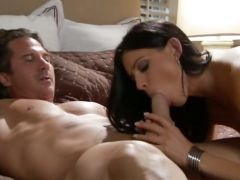India Summer wraps her lips round a hard cock before getting a ramming
