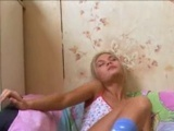 Blond masturbation the facializated
