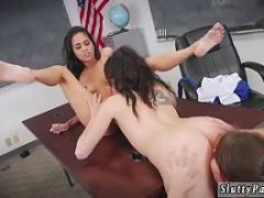 Skinny college party and lesbian tied up After School Detention