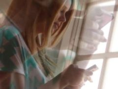 blond and her solo masturbation