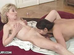 Lesbian old and young fun