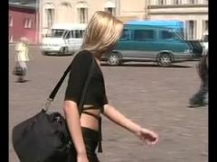 Leyla flashing in public places