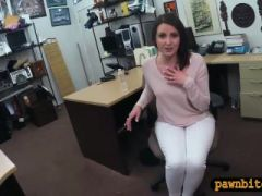 Customers wife gives head and screwed at the pawnshop