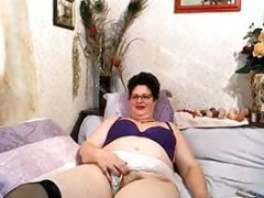 Mature Plus Size Woman Fingers Her Pussy