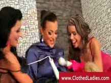 Lezbo glam Gang bang with four ladies