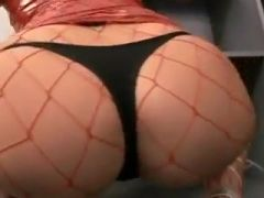Hot womanin fishnets