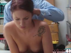 Teen thief Naiomi Gets Roughly Pounded