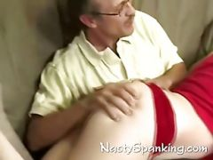 Amateur Guy Spanking Hot Teen