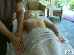 Gratifying honey with oil massage