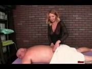 Milf Gives A Slippery Hand Job With His Massage