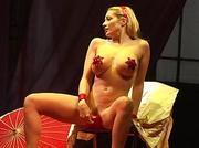 Scandal on stage horny babe