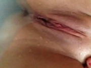 18 Year Old Dildoing Herself In The Tub